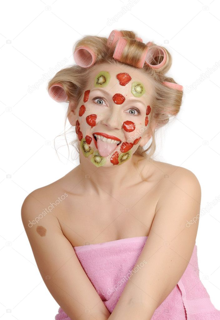 Improving mask from fruit — Stock Photo #1854629