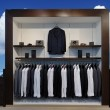 Show-window with suits — Stock Photo