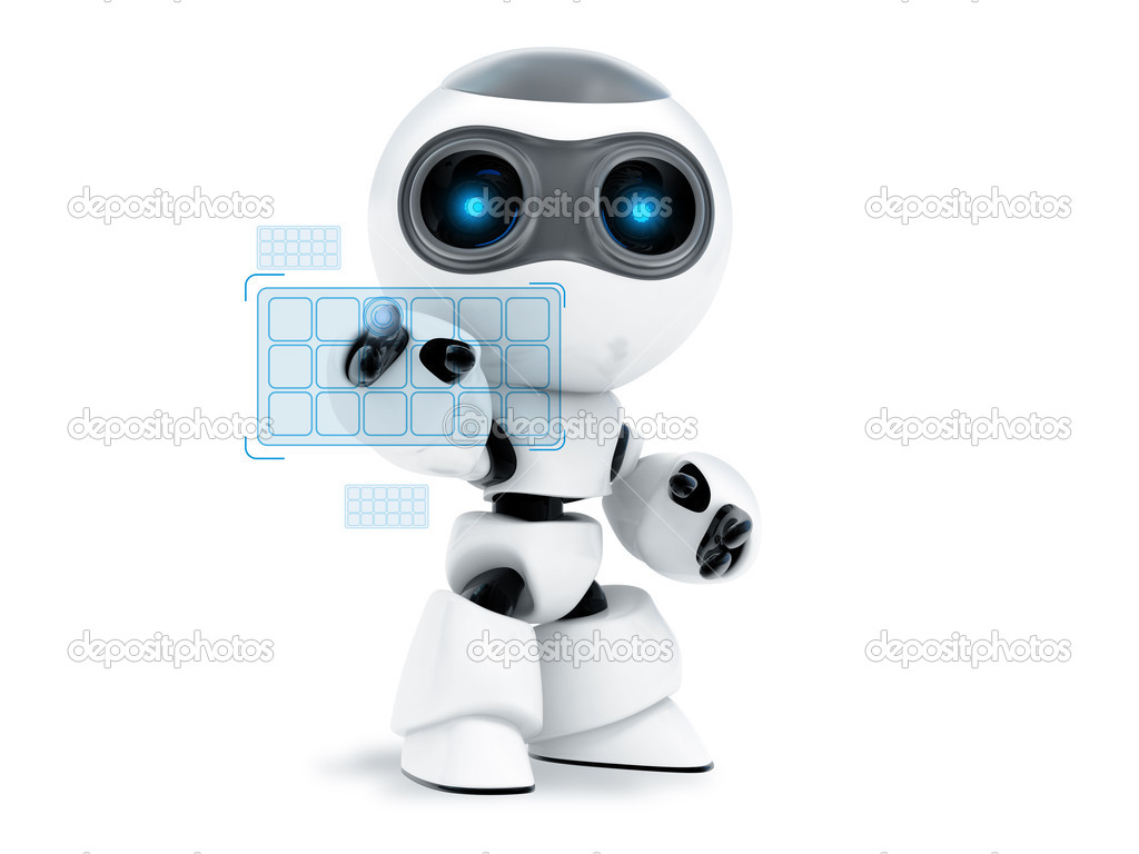 Robot touch screen — Stock Photo #1099442