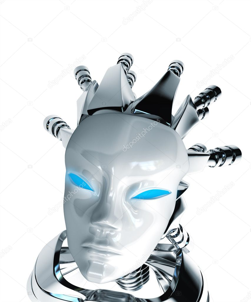 Robot look up — Stock Photo #1100071