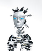 Robot look up — Stock Photo