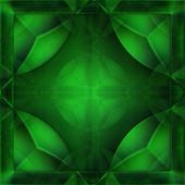 Green crystal — Stock Photo