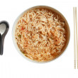 Instant noodle isolated with path — Stock Photo