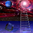 Stock Photo: Abstraction with ladder