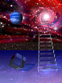 Abstraction with a ladder — Stock Photo