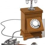 レトロな電話 — ストック写真