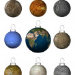 Christmas-tree decorations_planets — Stock Photo