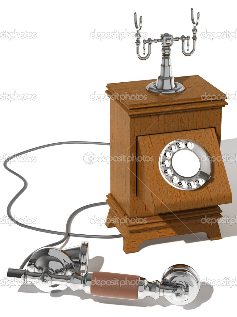 The phone executed in a retro style, with the removed tube which lays a beside. — Stock Photo #1162929