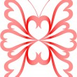 Royalty-Free Stock Векторное изображение: Heart-butterfly