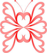 Heart-butterfly — Stock Vector