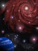 Background the star sky — Stock Photo