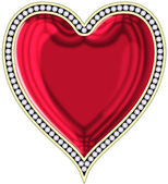 Heart with jewels — Stock Photo