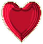Heart with a gold rim — Stock Photo