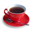 Red cap of tea — Stock Photo