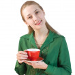 Royalty-Free Stock Photo: Girl with cup of tea