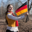 Royalty-Free Stock Photo: Girl with germany flag