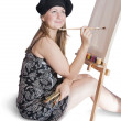 Girl with brushes — Stock Photo #1116191