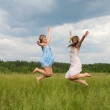 Royalty-Free Stock Photo: Jumping girls