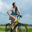 Girl goes on bicycle — Stock Photo #1130547