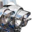 Headlight of Motorcycle — Stock Photo