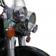 Headlight of notorcycle — Stock Photo
