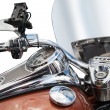 Royalty-Free Stock Photo: Top view of a classic  motorcycle