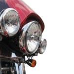 Headlight of motorcycle — Stock Photo #1131228