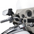 Stock Photo: Top view of a luxurious motorcycle