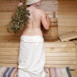 Royalty-Free Stock Photo: Girl in sauna