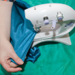 Closeup of sewing girl — Stock Photo