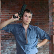 Man with gun — Stock Photo #1136679