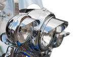 Headlight of Motorcycle — Stock Photo