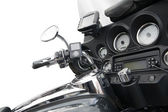 Top view of a luxurious motorcycle — Stock Photo
