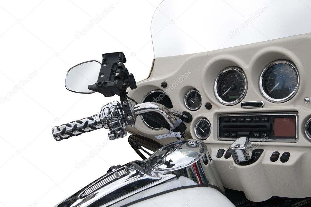 Close up of an grey  motorbike dashboard — Stock Photo #1131356