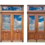 Wooden doors — Stock Photo