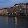 Channel in St.Petersburg in dusk — Stock Photo #1161989