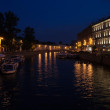 Moika river  at night — Stockfoto