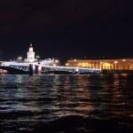 Palace bridge at night — Stock Photo
