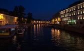 Moika river at night — Foto Stock