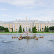 Panorama of Petrodvorets at Peterhof — Stock Photo