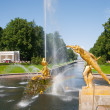 Fountains of Petergof, Saint Petersburg, — Stock Photo