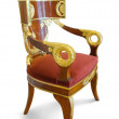 Golden luxury chair — Stock Photo