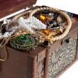 Closeup of Treasure chest — Stock Photo