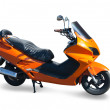 Isolated  orange new scooter — Stock Photo
