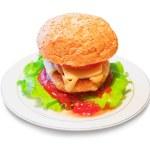 Burger on dish — Stock Photo #1189554