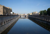 Obvodnoy channel in Saint-Petersburg — Stock Photo