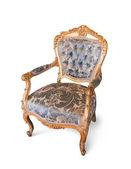 Golden luxury chair — Stock Photo