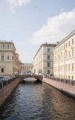 Channel in St. Petersburg — Stock Photo