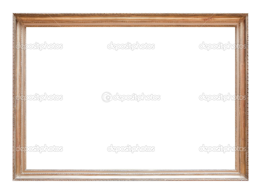 Vintage gold picture frame isolated with clipping path  Stock Photo #1182383