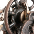 Antique sewing machine close-up — Stock Photo